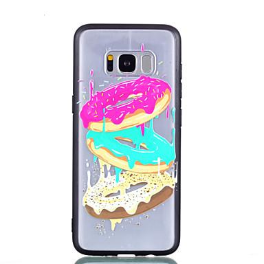voordelige Galaxy S-serie hoesjes / covers-hoesje Voor Samsung Galaxy S8 Plus / S8 Transparant / Reliëfopdruk / Patroon Achterkant Voedsel Hard PC