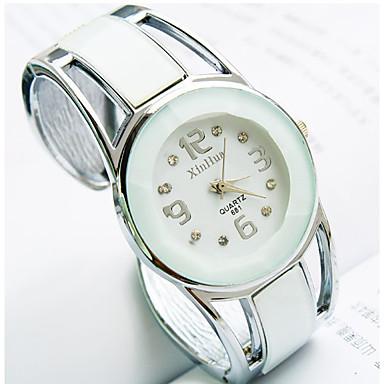 ieftine Ceasuri Damă-Pentru femei femei Ceasuri de lux Ceas Brățară Simulat Diamant Ceas Quartz Oțel inoxidabil Negru / Albastru Stras imitație de diamant Analog Atârnat Modă Ceas Elegant - Negru Albastru Bleumarin Un an