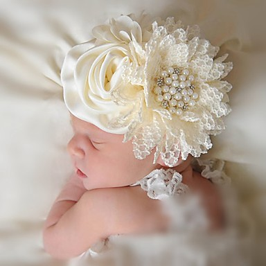 cheap Kids' Headpieces-Infant Girls' Others Hair Accessories Beige One-Size / Headbands