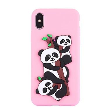 retro disegno iPhone X Plus Fantasia Per Custodia iPhone Morbido 06507159 iPhone Apple TPU Per 8 per iPhone iPhone 8 Resistente Panda X 8 urti agli F7nvq1H