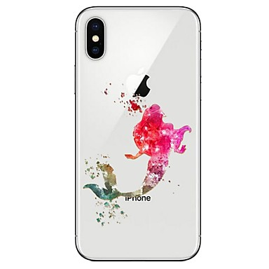 Недорогие Кейсы для iPhone-Кейс для Назначение Apple iPhone X / iPhone 8 Pluss / iPhone 8 Ультратонкий / С узором Кейс на заднюю панель Соблазнительная девушка Мягкий ТПУ