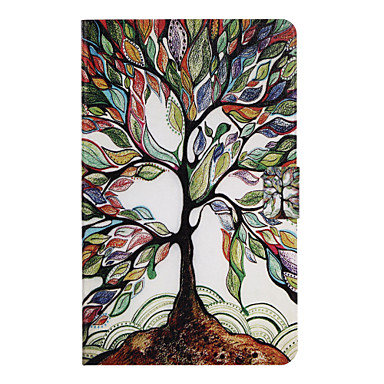 [$11.39] Case For Samsung Galaxy Tab A 10.1 (2016) Card Holder with Stand Flip Pattern Auto Sleep/Wake Up Full Body Cases Tree Hard PU Leather for