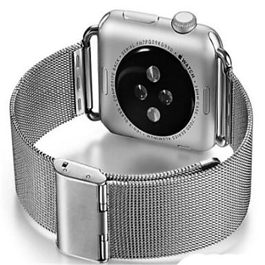Недорогие Ремешки для Apple Watch-Ремешок для часов для Apple Watch Series 4/3/2/1 Apple Миланский ремешок Стали Повязка на запястье