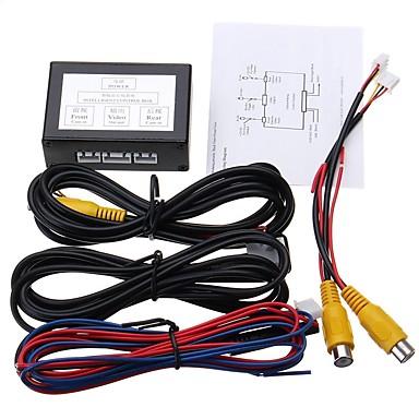 billige Bil Bakspejl Kamera-ziqiao bil parkering video kanal konverter auto front / side og bagfra kamera videokontrol boks