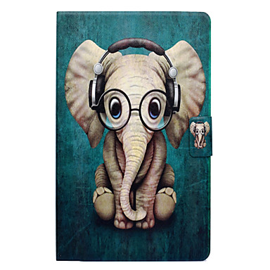 Custodia Per Amazon Kindle Fire 7(5th Generation, 2015 Release) Porta-carte di credito / Con supporto / Con chiusura magnetica Integrale Elefante Resistente pelle sintetica per Kindle Fire 7(5th