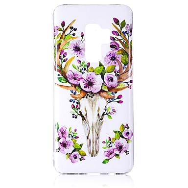 Недорогие Чехлы и кейсы для Galaxy S6 Edge-Кейс для Назначение SSamsung Galaxy S9 / S9 Plus / S8 Plus Сияние в темноте / IMD / С узором Кейс на заднюю панель Животное / Блеск Мягкий ТПУ