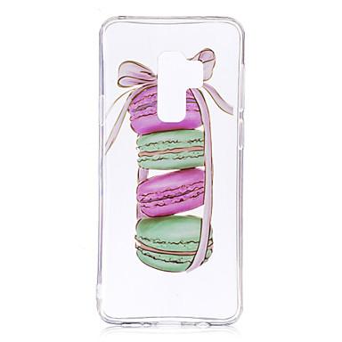 Недорогие Чехлы и кейсы для Galaxy S6-Кейс для Назначение SSamsung Galaxy S9 / S9 Plus / S8 Plus IMD / С узором / Прозрачный Body Кейс на заднюю панель Продукты питания Мягкий ТПУ