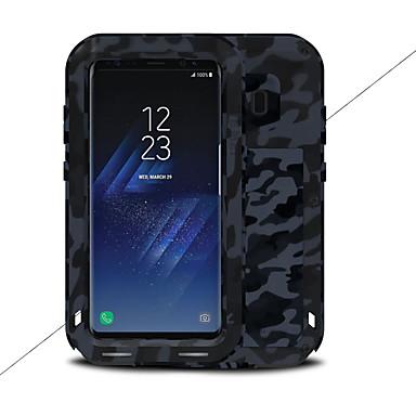 Недорогие Чехлы и кейсы для Galaxy S-Кейс для Назначение SSamsung Galaxy S8 Plus / S8 Вода / Грязь / Надежная защита от повреждений Чехол Однотонный Твердый Металл