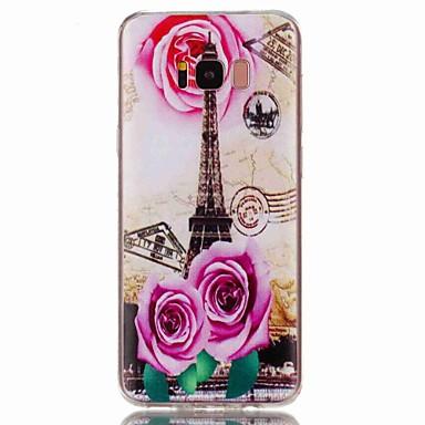 voordelige Galaxy S-serie hoesjes / covers-hoesje Voor Samsung Galaxy S8 Plus / S8 / S7 edge Patroon Achterkant Eiffeltoren Zacht TPU
