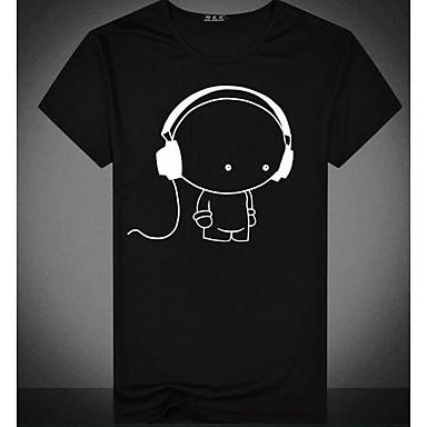 323115cc2003 Χαμηλού Κόστους Ανδρικά μπλουζάκια και φανελάκια-Ανδρικά T-shirt Βασικό  Κινούμενα σχέδια Στρογγυλή Λαιμόκοψη