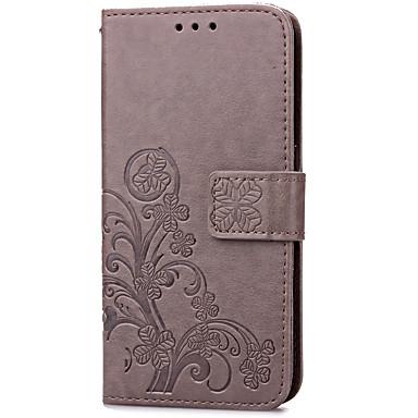 Custodia Per Samsung Galaxy S7 edge / S7 Porta-carte di credito / Con supporto / Con chiusura magnetica Integrale Fiore decorativo Resistente pelle sintetica per S7 edge / S7
