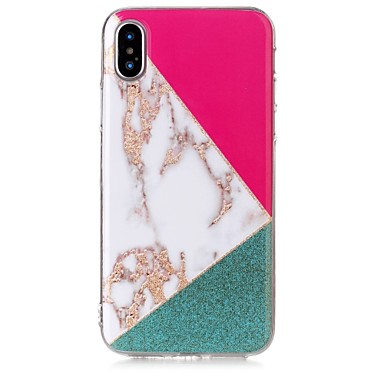 8 per IMD Morbido iPhone 06591954 iPhone TPU Glitterato retro X iPhone iPhone Fantasia 8 marmo disegno Plus Per Custodia Effetto Apple X Per RRpaY