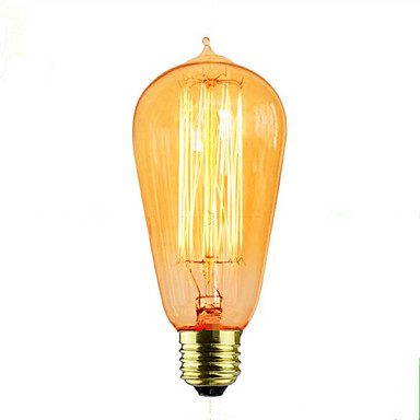 1 buc 40W E26/E27 ST64 2300k K Incandescent Vintage Edison bec 110-220V 110-130V 220V-240V