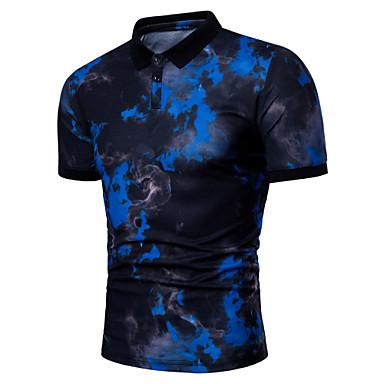 economico Abbigliamento uomo-Polo - Taglie forti Per uomo Essenziale Con stampe, Fantasia geometrica Colletto Bianco XL / Manica corta / Estate