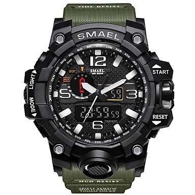 levne Pánské-SMAEL Pánské Sportovní hodinky Vojenské hodinky Náramkové hodinky Digitální Z umělé kůže Černá / Modrá / Červená 30 m Voděodolné Alarm Kalendář Analog - Digitál Přívěšky Luxus Vintage Na běžné nošen