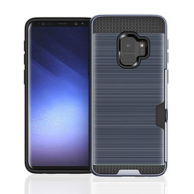 Capinha Para Samsung Galaxy S9 Plus / S9 Porta-Cartão / Antichoque Capa traseira Sólido Rígida PC para S9 / S9 Plus / S8 Plus