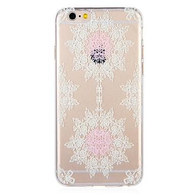 voordelige iPhone 5 hoesjes-hoesje Voor Apple iPhone 8 Plus / iPhone 8 / iPhone 7 Plus Patroon Achterkant Lace Printing / Bloem Zacht TPU