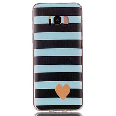 Недорогие Чехлы и кейсы для Galaxy S3-Кейс для Назначение SSamsung Galaxy S8 Plus / S8 / S7 edge С узором Кейс на заднюю панель С сердцем Мягкий ТПУ