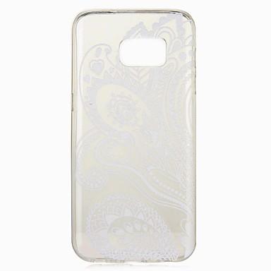 abordables Galaxy S6 Carcasas / Fundas-Funda Para Samsung Galaxy S8 Plus / S8 / S7 edge Diseños Funda Trasera Flor Suave TPU