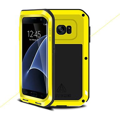 Недорогие Чехлы и кейсы для Galaxy S-Кейс для Назначение SSamsung Galaxy S7 edge Защита от удара Чехол Сплошной цвет Твердый Металл