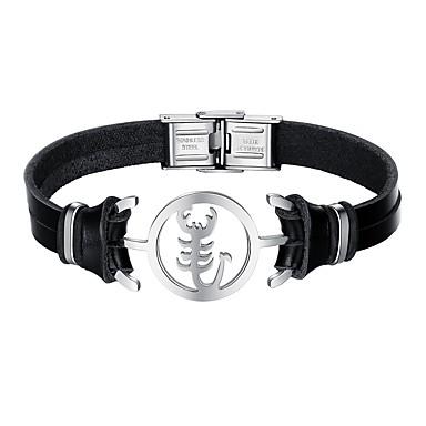 Homme Bracelet Cuir Quotidien Noir Pour Scorpion Rendez rCBQedxoW