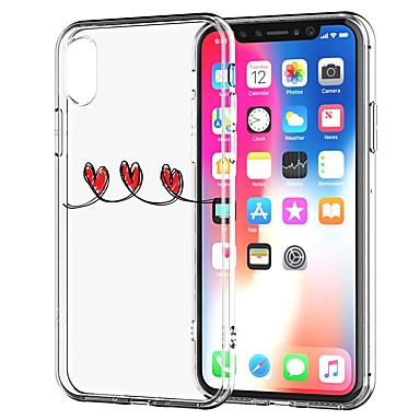 iPhone iPhone Morbido Custodia iPhone retro per Con X TPU Per iPhone iPhone Plus Transparente Apple 8 8 Fantasia 8 X 06582976 cuori Per disegno ffqwv1Oa