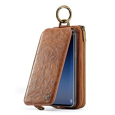 voordelige Galaxy S-serie hoesjes / covers-hoesje Voor Samsung Galaxy S9 Portemonnee / Kaarthouder / Flip Volledig hoesje Effen Kleur Hard aitoa nahkaa