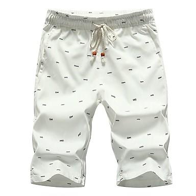 economico Abbigliamento uomo-Per uomo Moda città Quotidiano Largo Pantaloncini Pantaloni - Con stampe Basic Cotone Nero Rosso Cachi XXXL XXXXL XXXXXL