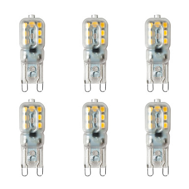 BRELONG® 6pcs 2 W Luces LED de Doble Pin 200 lm G9 14 Cuentas LED SMD 2835 Blanco Cálido Blanco 220-240 V