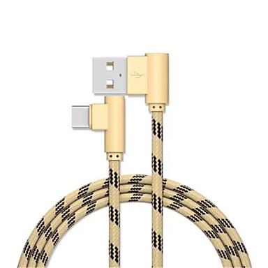 C-tyypin USB-kaapelisovitin pikalataus Kaapeli Käyttötarkoitus Samsung Huawei LG Nokia Lenovo Xiaomi Motorola HTC Sony 100cm Alumiini