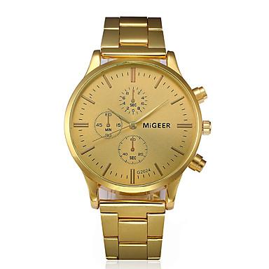 Χαμηλού Κόστους Ανδρικά ρολόγια-Ανδρικά Ρολόι Φορέματος Χρυσό Χρονογράφος Δημιουργικό Μεγάλο καντράν Αναλογικό Πολυτέλεια Κλασσικό - Μαύρο Χρυσό Ενας χρόνος Διάρκεια Ζωής Μπαταρίας / SSUO LR626