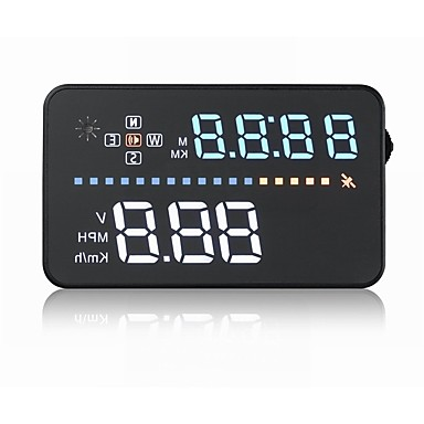 voordelige Head-up displays-A3 5,6 inch  LED Bekabeld Head Up Display LED-indicator Alarm Aanpassing van de helderheid Multifunctioneel display Plug & play voor