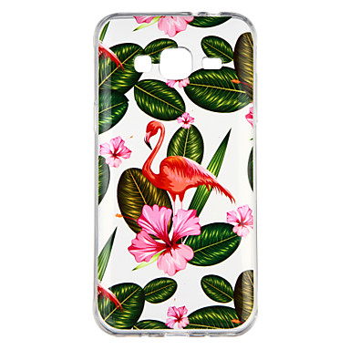 [$2.99] Case For Samsung Galaxy J3(2016) Transparent Pattern Back Cover Plants Flamingo Soft TPU for J3 (2016)