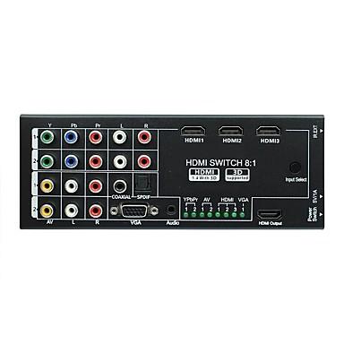 voordelige VGA-nieuwe multifunctionele 8 in 1 uit hdmi audio-video-extractor met coaxiale en spdif-ondersteuning 3d voor 1080p hdtv home theater