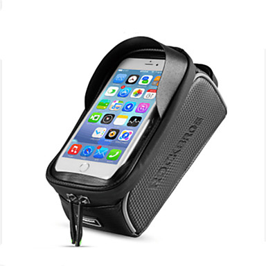 Bag Cell Phone 6 pollice Schermo touch, Riflessivo, Ompermeabile Ciclismo per iPhone 8/7/6S/6 / iPhone X / Samsung Galaxy S8+ / Note 8 Nero / iPhone XR / iPhone XS / iPhone XS Max / Portatile