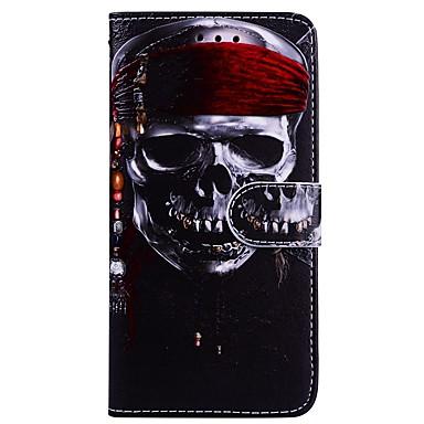 Carcasă Pro Samsung Galaxy S8 Plus / S8 Peněženka / Pouzdro na karty / se stojánkem Celý kryt Lebky Pevné PU kůže pro S8 Plus / S8 / S7 edge