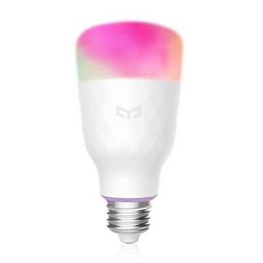 cheap Smart Lights-MIJIA YEELIGHT YLDP06YL Smart Light Bulb E27 16 Million Colors WiFi Enabled Work with Amazon Alexa Support Google Home