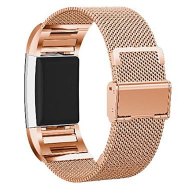 billige Tilbehør til smartklokke-Klokkerem til Fitbit Charge 2 Fitbit Milanesisk rem Rustfritt stål Håndleddsrem