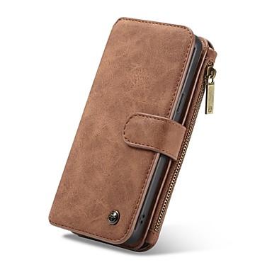 Недорогие Чехлы и кейсы для Galaxy S6 Edge-Кейс для Назначение SSamsung Galaxy S9 / S9 Plus / S8 Plus Кошелек / Бумажник для карт / Флип Чехол Однотонный Твердый Кожа PU