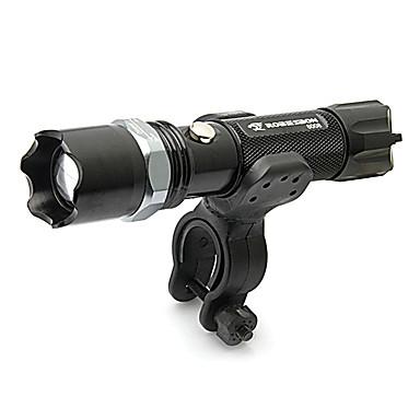 LED-Zaklampen Fietsverlichting LED lm 5 Modus Verstelbare focus Schokbestendig Antislip-handgreep Oplaadbaar Waterbestendig Slagring