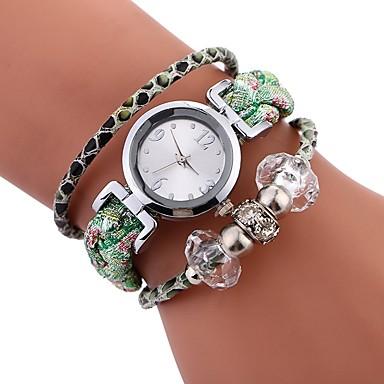 564489ea96b3 abordables Relojes de Mujer-Mujer Reloj Pulsera envolver reloj Cuarzo Cuero  Sintético Acolchado Negro