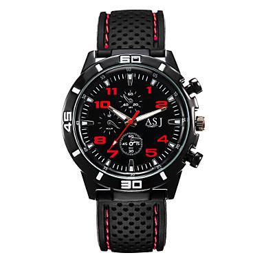 Pánské Náramkové hodinky Silikon Černá Velký ciferník Analogové Žlutá Červená Zelená Jeden rok Životnost baterie / SSUO SR626SW
