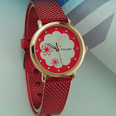 Dámské dámy Náramkové hodinky Křemenný Hodinky na běžné nošení Plastic  Kapela Analogové Květina Módní Černá   c43ce07b39