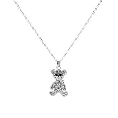 billige Mode Halskæde-Halskædevedhæng Panda Damer Tegneserie Europæisk Håndlavet Hvid 50 cm Halskæder Smykker Til Fest Arbejde Bar