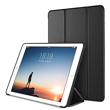 Case For Apple iPad (2018) / iPad Pro 10.5 with Stand / Origami / Magnetic Full Body Cases Solid Colored Hard PU Leather for iPad Air / iPad 4/3/2 / iPad (2018)
