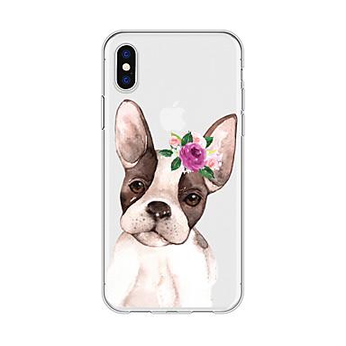 voordelige iPhone 5 hoesjes-hoesje Voor Apple iPhone X / iPhone 8 Plus / iPhone 8 Patroon Achterkant Hond / Cartoon / Bloem Zacht TPU