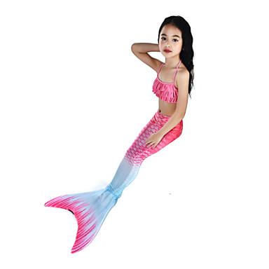 The Little Mermaid Aqua Princess Costume de Baie Bikini Costume Pentru copii Fete Slip rochie sirenă și trompetă Bikini Crăciun Halloween Carnaval Festival / Sărbătoare Elastan Tactel Mov / Fucsia