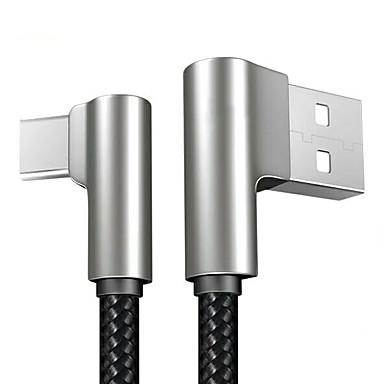 halpa Kaapelit ja adapterit-C-tyypin Kaapeli 1m-1.99m / 3ft-6ft Punottu / pikalataus tekstiili USB-kaapelisovitin Käyttötarkoitus Samsung / Huawei / Nokia