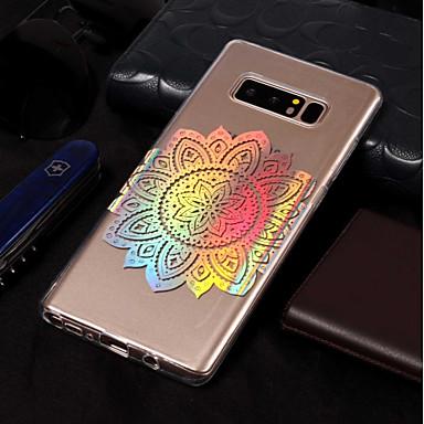 voordelige Galaxy Note-serie hoesjes / covers-hoesje Voor Samsung Galaxy Note 8 Beplating / Patroon Achterkant Mandala Zacht TPU