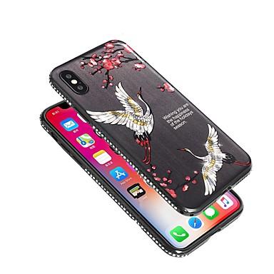 iPhone 8 iPhone Morbido 06695484 Fantasia diamantini X Apple per Con Fiore 8 TPU Per iPhone X Per disegno decorativo Custodia iPhone retro qwX8HTH6
